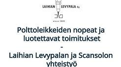 Laihian Levypala Oy 30 vuotta - Yhteistyö Scansolon kanssa