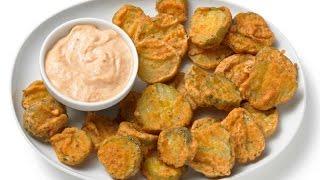 Прикол!  Жареные маринованные огурцы - деликатес и фишка юга США.