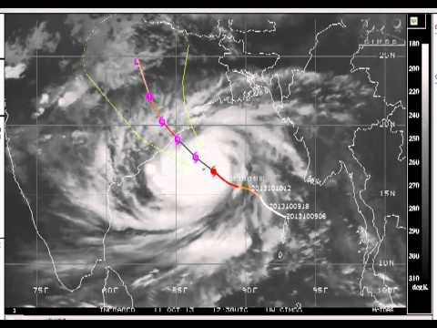 Video 2: Orissa Cyclone Phailin Satellite Imagery and Video
