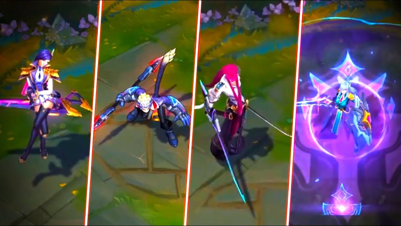 6 NEW SKINS - Battle Academia Caitlyn Wukong Garen Yone Leona - League of Legends