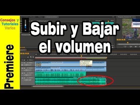 Cómo subir y bajar el volumen de una parte del video usando adobe Premiere