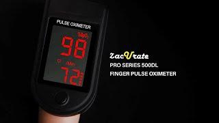 Zacurate 500DL Pro Series Fingertip Pulse Oximeter