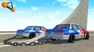 Baixar BeamNG.drive - Chained Cars against Ramp #2