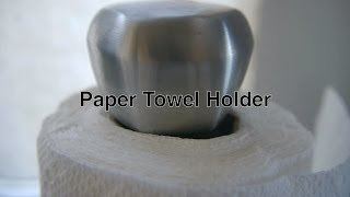 Paper Towel Holder In Stainless Steel As Best Alternative To Under Cabinet Or Wall Mount Dispenser