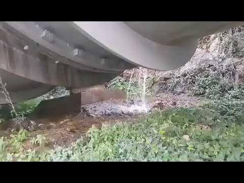 El vídeo que demuestra las grandes fugas de agua de la tubería del trasvase del Tajo