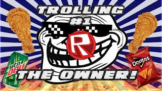 TROLLING THE OWNER?!!! // ROBLOX Chicken Express (Trolling #1)