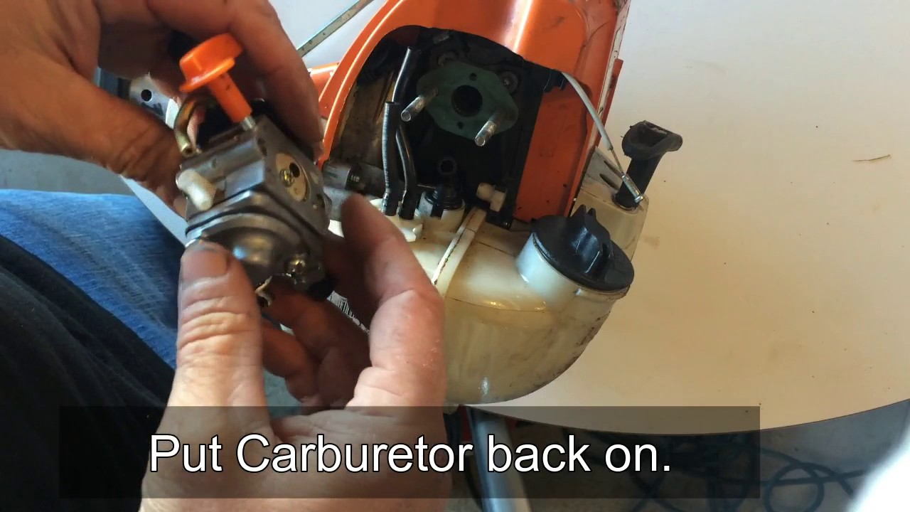 How To Clean Adjust And Fix Common Carburetor Problems On A Stihl Fs90 Trimmer Weedeater