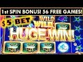 1st SPIN BONUS! $5 BET OCEAN MAGIC SLOT MACHINE - MGM SPRINGFIELD WINNING!