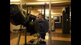 Beinpresse horizontzal McFit einbeinig, 220 kg, langsame WH,Pittforce-Stil