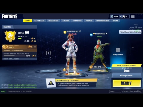 fortnite matchmaking cooldown
