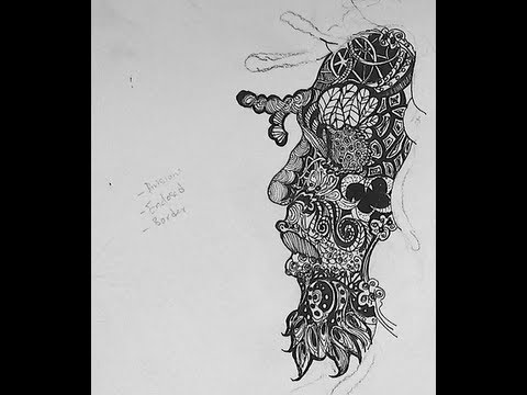 Pen And Ink Drawing Tutorials How To Draw A Zentangle