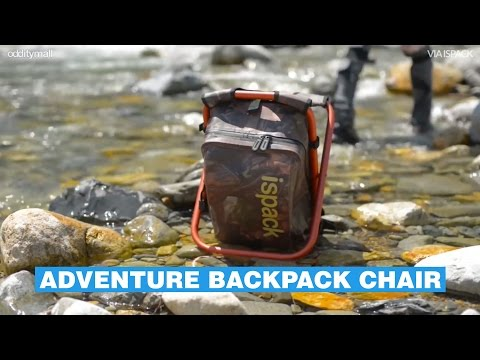 ISPACK Aventure Backpack Doubles As A Chair