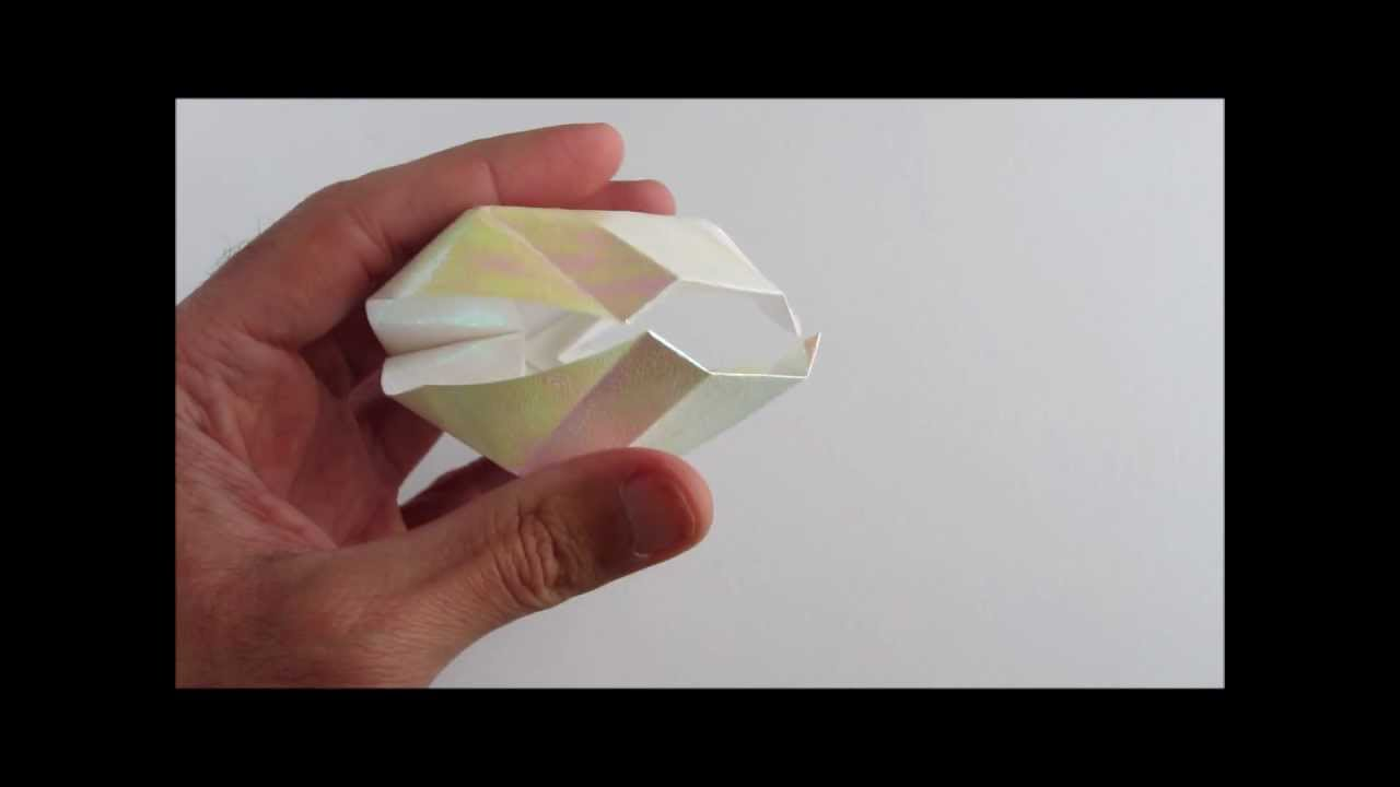 Origami TurbanShell : Paper Trumpet Shell Tutorial(Conch ... | 720x1280