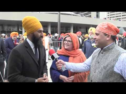 Interview with Andrea Horwath & Jagmeet Singh (Ontario NDP) - Khalsa Day, Toronto April 24th 2016
