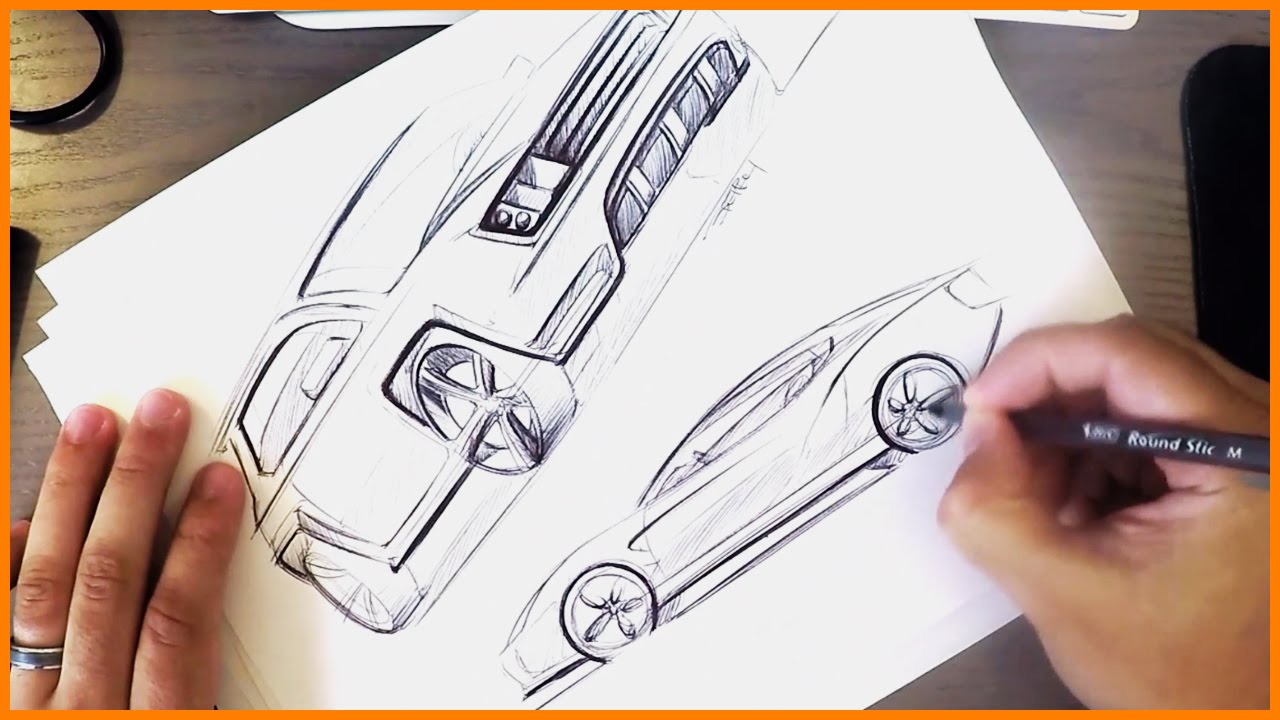 Industrial Design Sketching Bic Pen Cars Youtube
