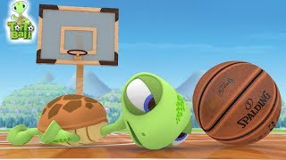 BASKETBALLS Turtle Funny Skills Basketball Shots 3D Animation For Children and Kids | Torto Ball