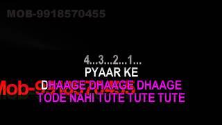 Pyaar Ke Dhaage Karaoke With Female Voice Ghunghroo Manhar Udhas - Sadhana Sargam