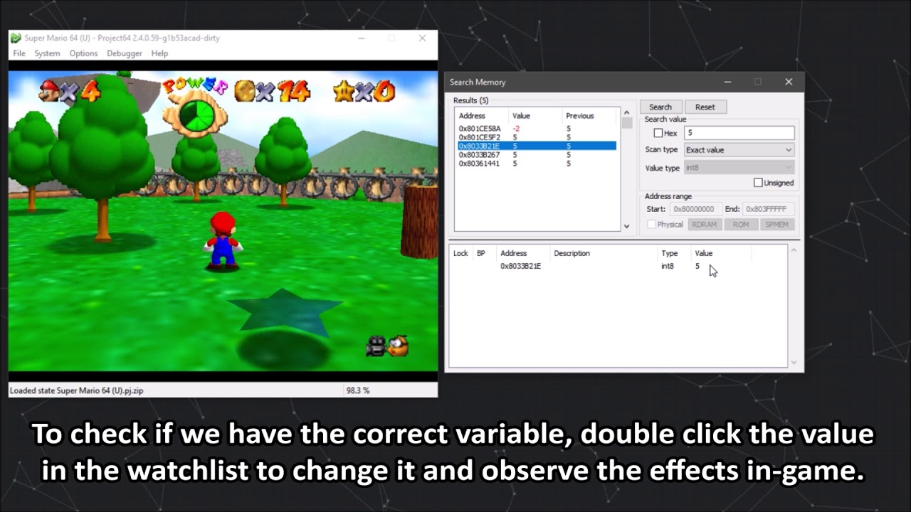 How to make GameShark codes with Project64