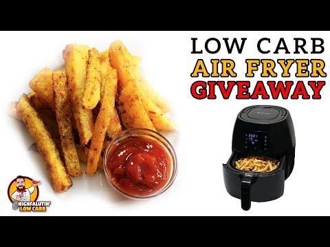 Air Fryer GIVEAWAY! Low Carb FRENCH FRIES In An Avalon Bay Digital Air Fryer