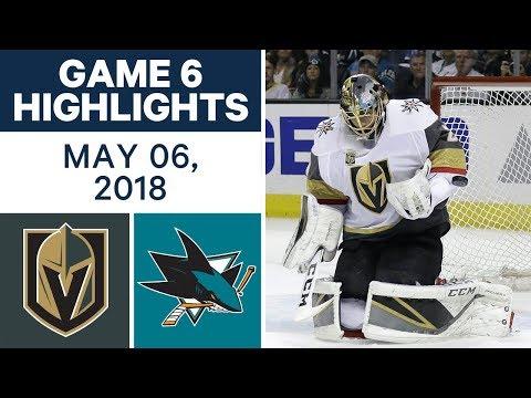 NHL Highlights | Golden Knights vs. Sharks, Game 6 - May 06, 2018