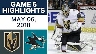 NHL Highlights | Golden Knights vs. Sharks, Game 6 - May 06, 2018