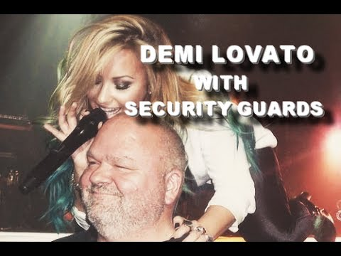 Demi and Security Guards.