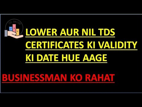 TDS Update  Date Extension Year2019-2020  Lower& Nil TDS Deduction Certificates