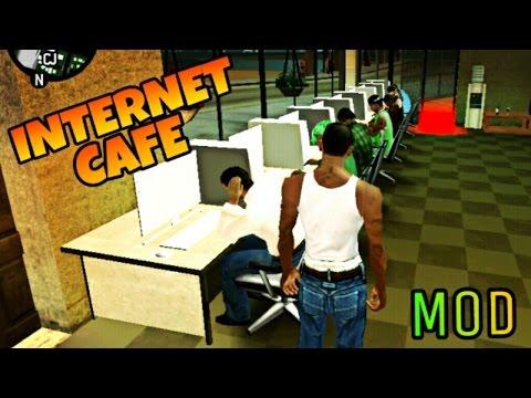 GTA San Andreas Android: GTA 4 Internet Cafe Mod!