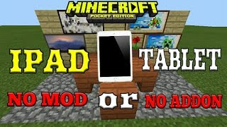 Cara Buat Ipad or Tablet di Mcpe No Mod - Tutorial