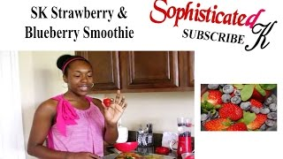 Healthy Strawberry & Blueberry Smoothie Sk