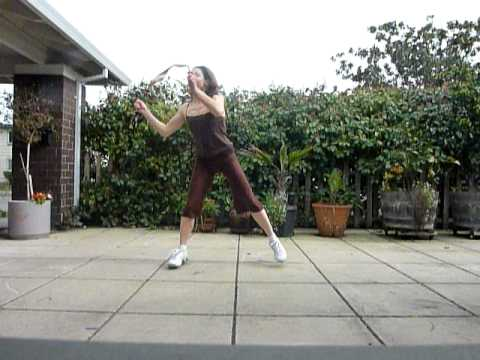 Wu Niang Chinese ribbon dance for Dance Exercise warmup