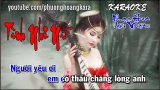 KARAOKE || NỮ NHI TÌNH || Nhạc Hoa lời Việt Phượng Hoàng kara