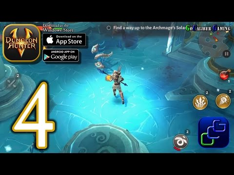 Dungeon Hunter 5 Android IOS Walkthrough - Part 4 - Solo Bounty 5-6, Stronghold, Events (EASY)