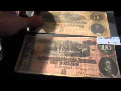 SILVER AND CONFEDERATE CURRENCY PICKUP 1/17/2015