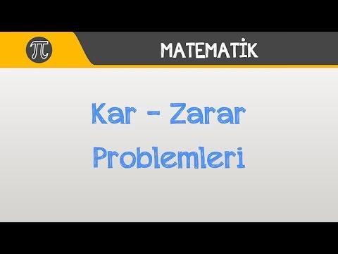 Kar - Zarar Problemleri | Matematik