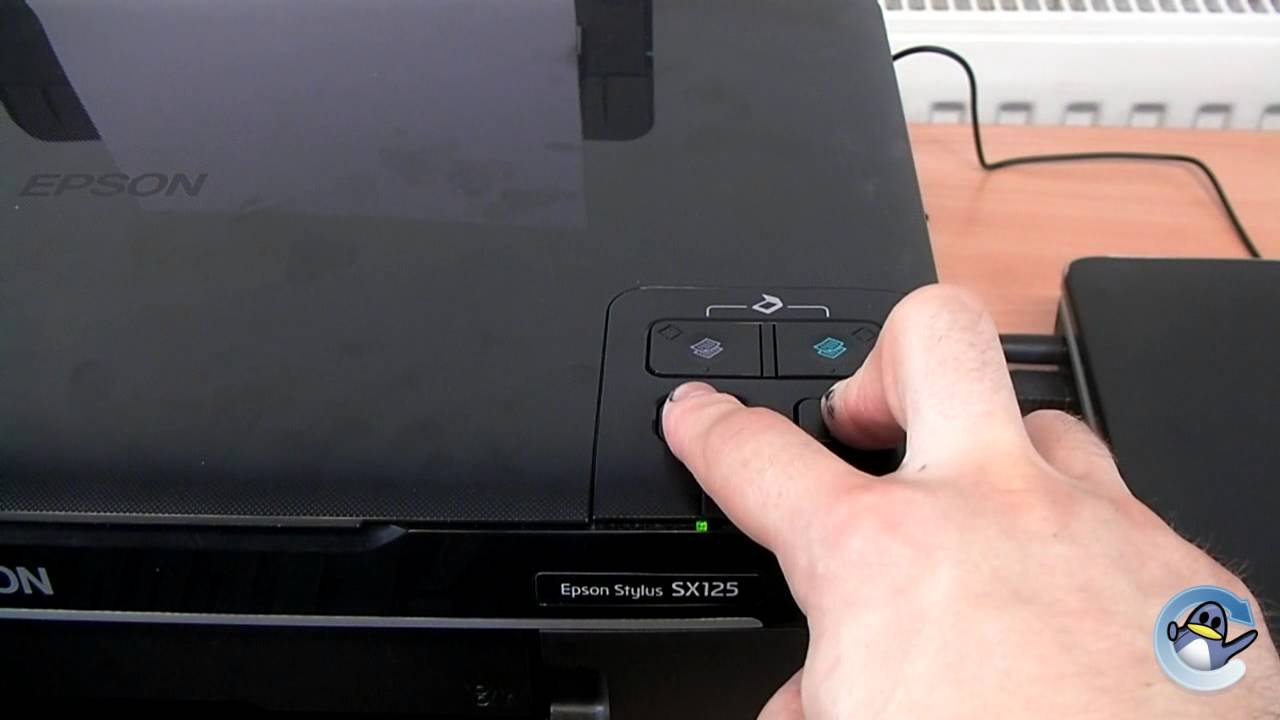 seft test nozzle check on a epson stylus sx125 youtube rh youtube com Epson Stylus DX8400 Driver for Mac Epson Stylus Printers