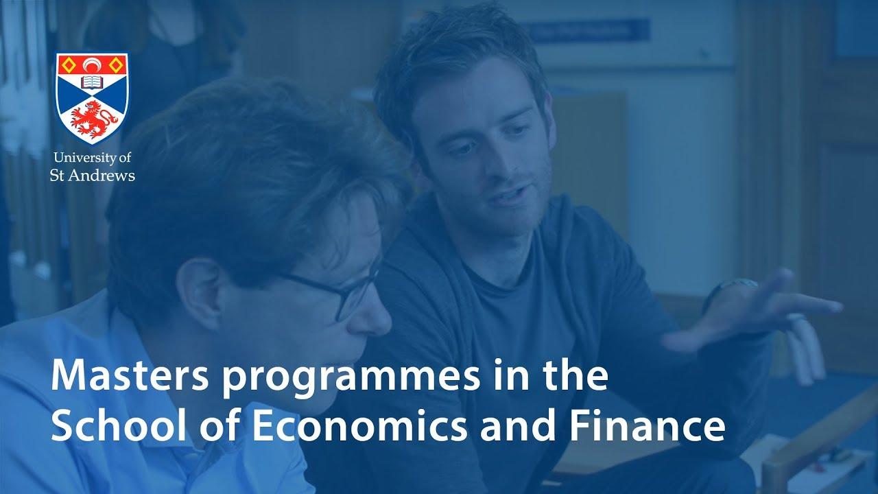 Finance and Economics MSc | University of St Andrews