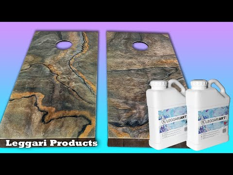 Coating Cornhole Boards Using Epoxy Resin | Dirty Pour Technique