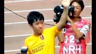 ベルギー移籍するため、セレッソ大阪戦がラストマッチになった遠藤選手...