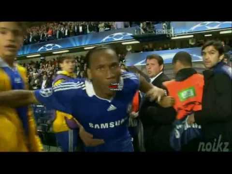 Drogba Goes Crazy - Chelsea Vs. Barcelona