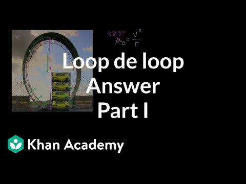 Loop de loop answer part 1 | Centripetal force and gravitation | Physics | Khan Academy