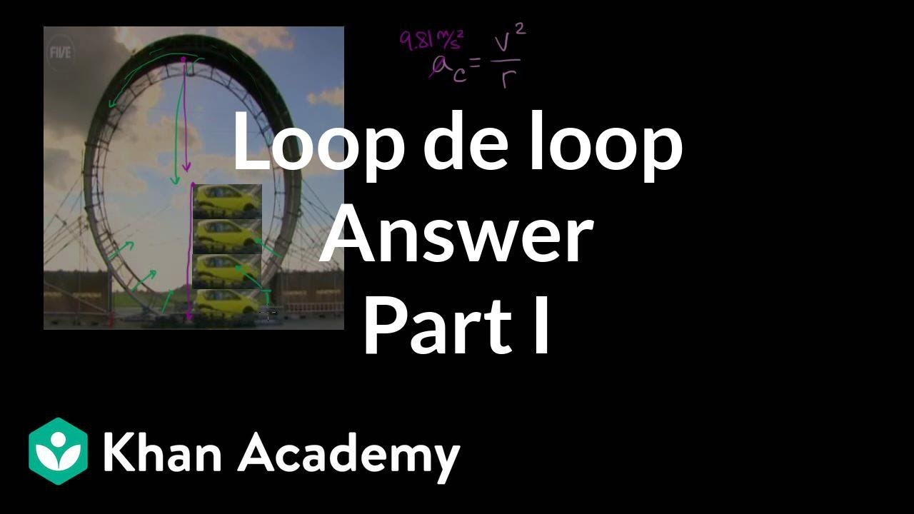 Loop de loop answer part 1 (video) | Khan Academy