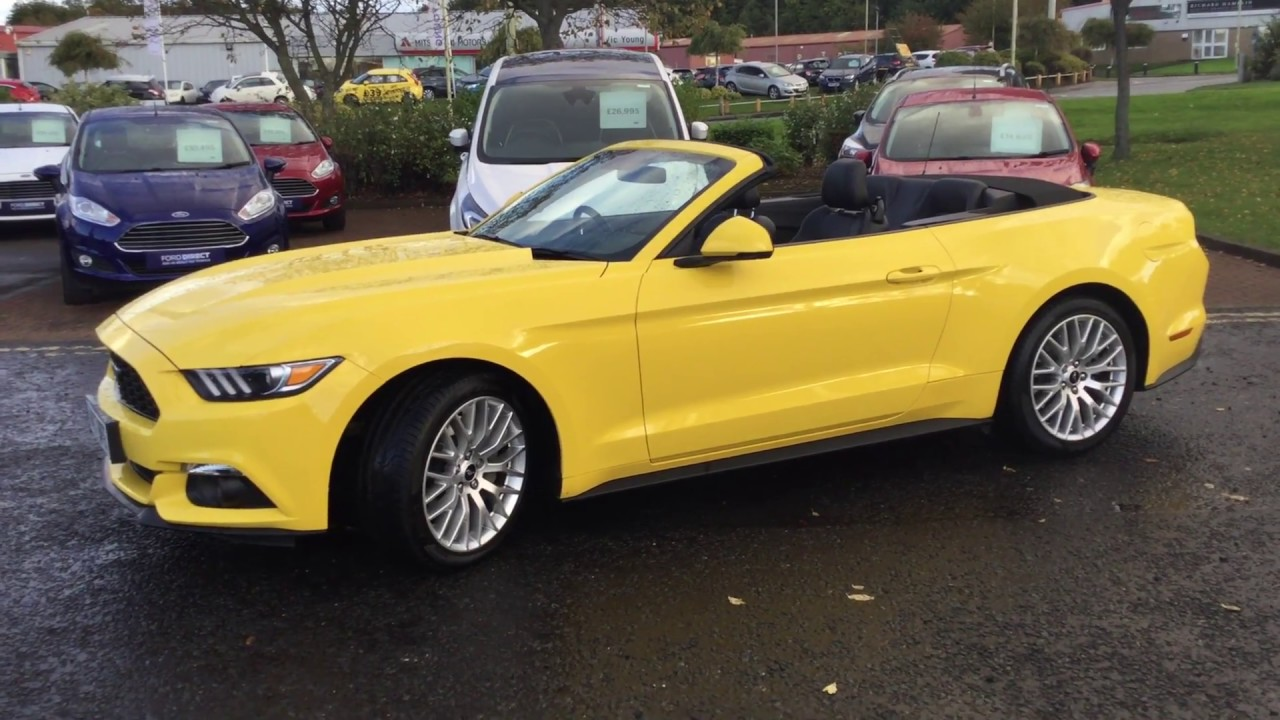 Used ford mustang 2 3 ecoboost 2dr convertible auto triple yellow 2017