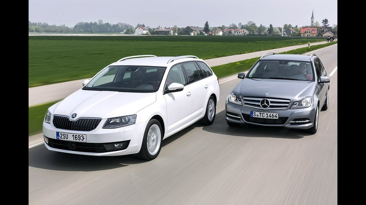 Skoda Octavia bi vs Mercedes C Klasse T Modell