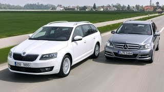 Skoda Octavia Combi vs. Mercedes C-Klasse T-Modell