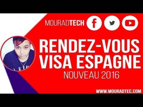 Rendez-vous demande visa Espagne Algérie VFSglobal  2016