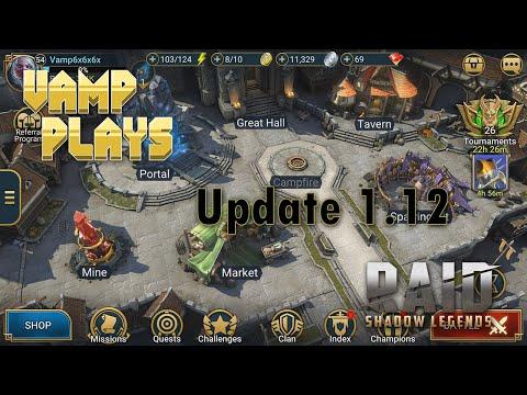 RAID Shadow Legends | Update 1.12 | Vamp Plays