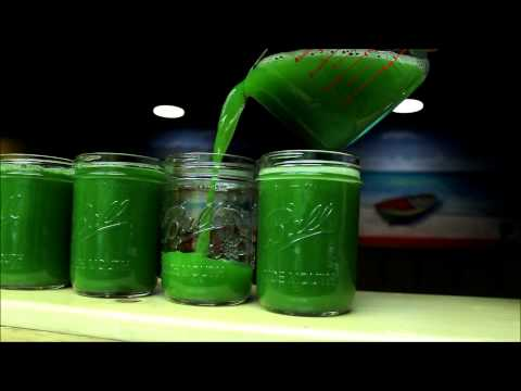 Cold Pressed Green Juice at One Drop Reggae Shop and Juice Bar