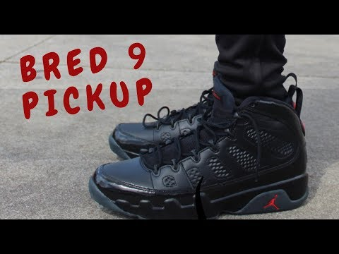 bdfccd7b117 Bred Jordan 9 Pickup, Unboxing, and On-foot - YouTube