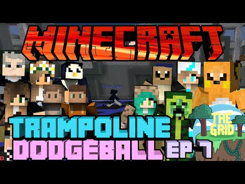 Minecraft: The Grid 10 Trampoline Dodgeball Ep 7 Odds Of Hitting Someone